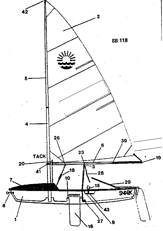 Craftsman model 60025 sailboat genuine parts