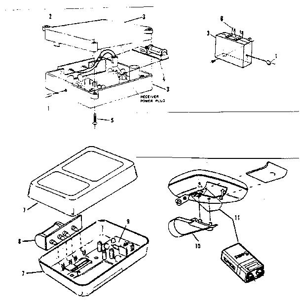 Craftsman model 139651500 garage door opener genuine parts