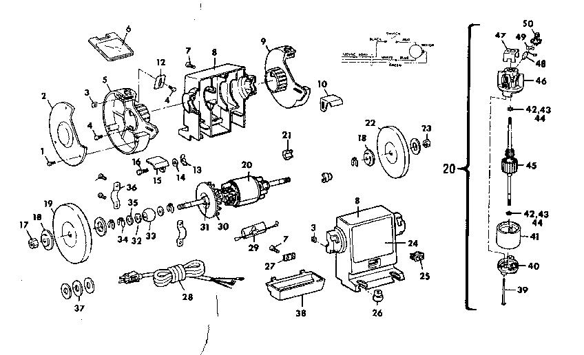 Craftsman model 257190430 grinder bench genuine parts