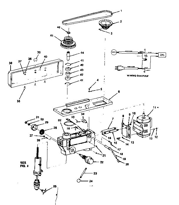 Craftsman model 113213843 drill press genuine parts