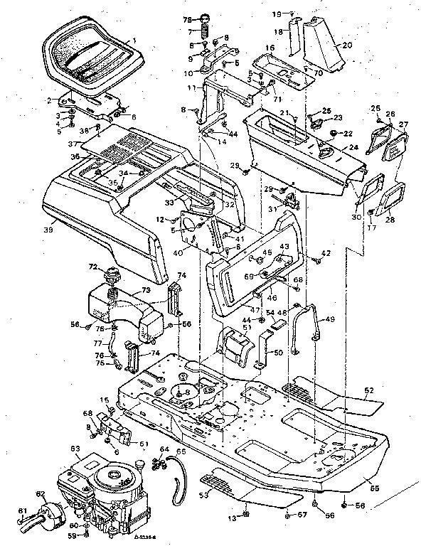 Craftsman model 502254151 lawn, tractor genuine parts