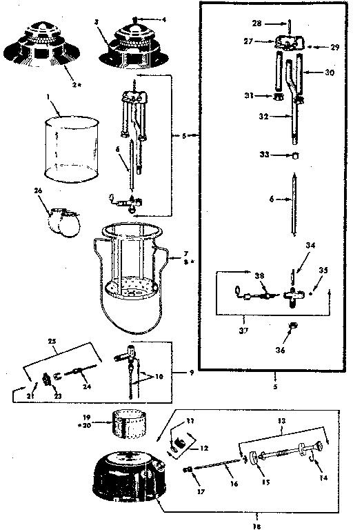 Sears model 47674070 lantern genuine parts