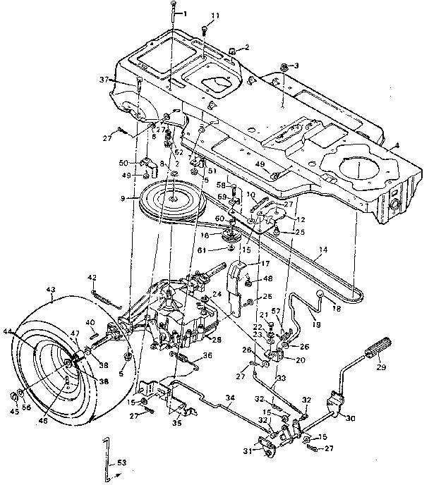 Craftsman model 502254280 lawn, tractor genuine parts