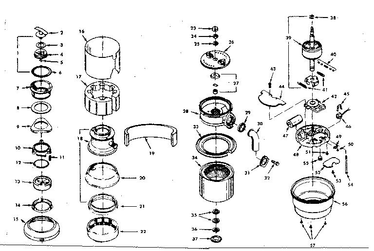 Kenmore model 17568570 garbage disposal genuine parts