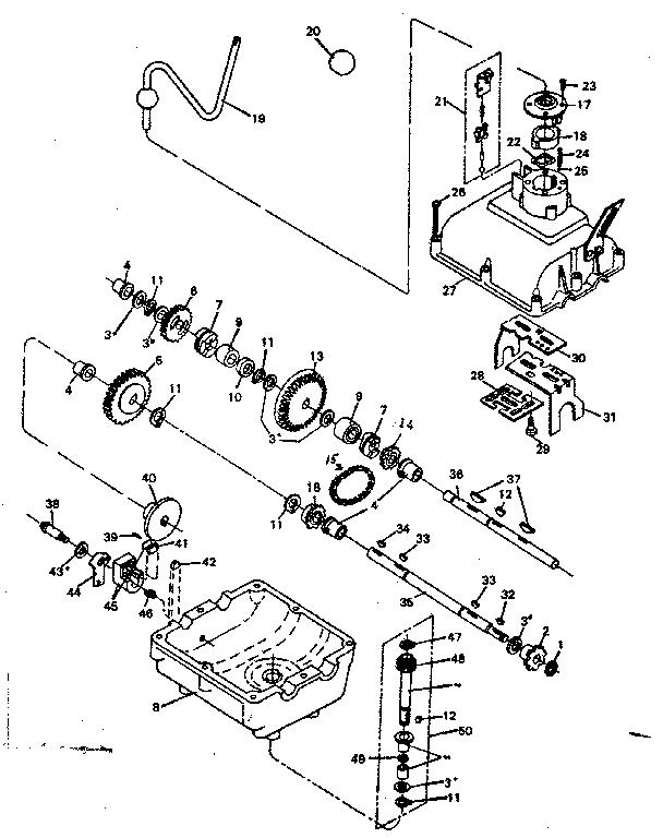 Footedana model 24565 transaxle/transmission, tractor
