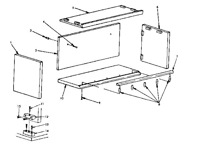 Craftsman model 419570 storage cabinet genuine parts