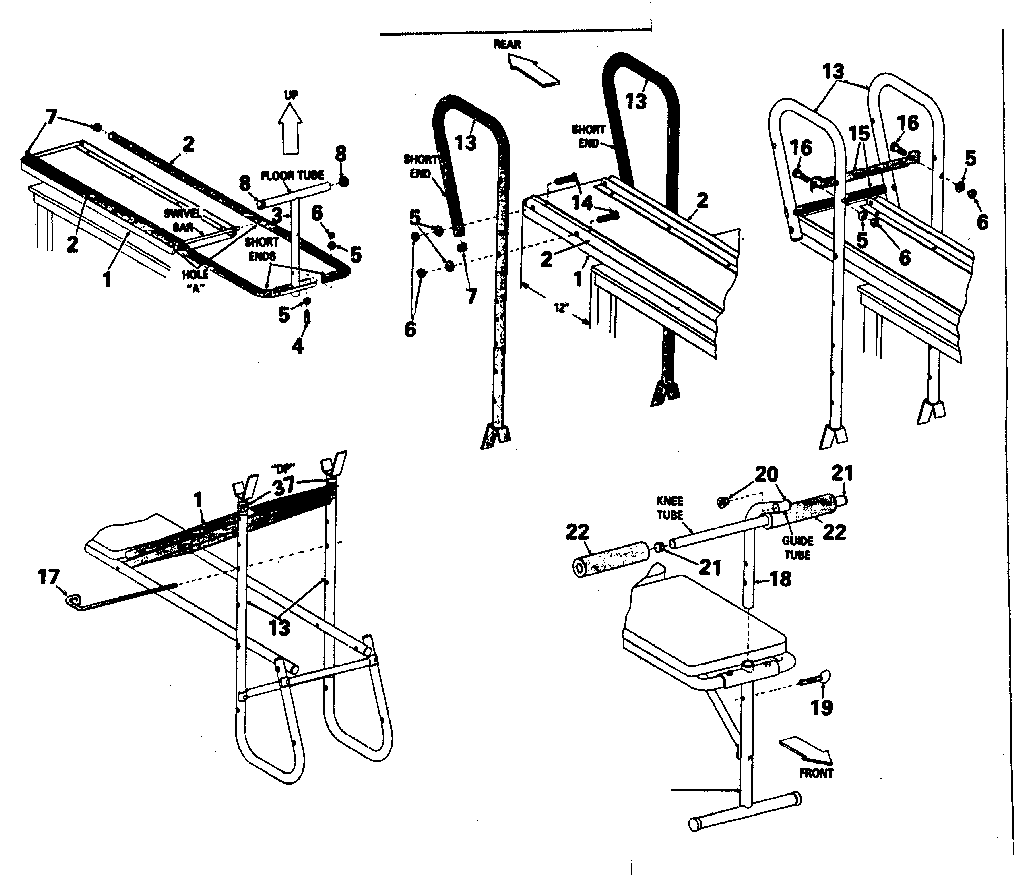 Dp model 11-0152 misc exercise genuine parts