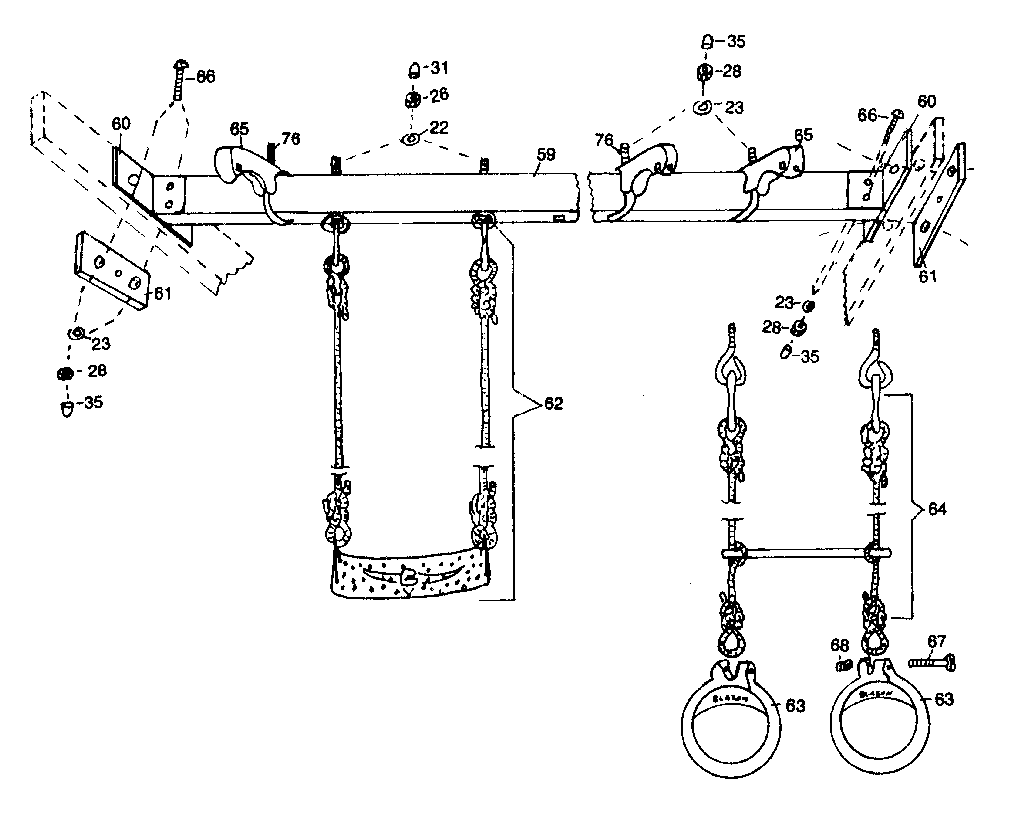 Blazon model 300016 playground equipment genuine parts