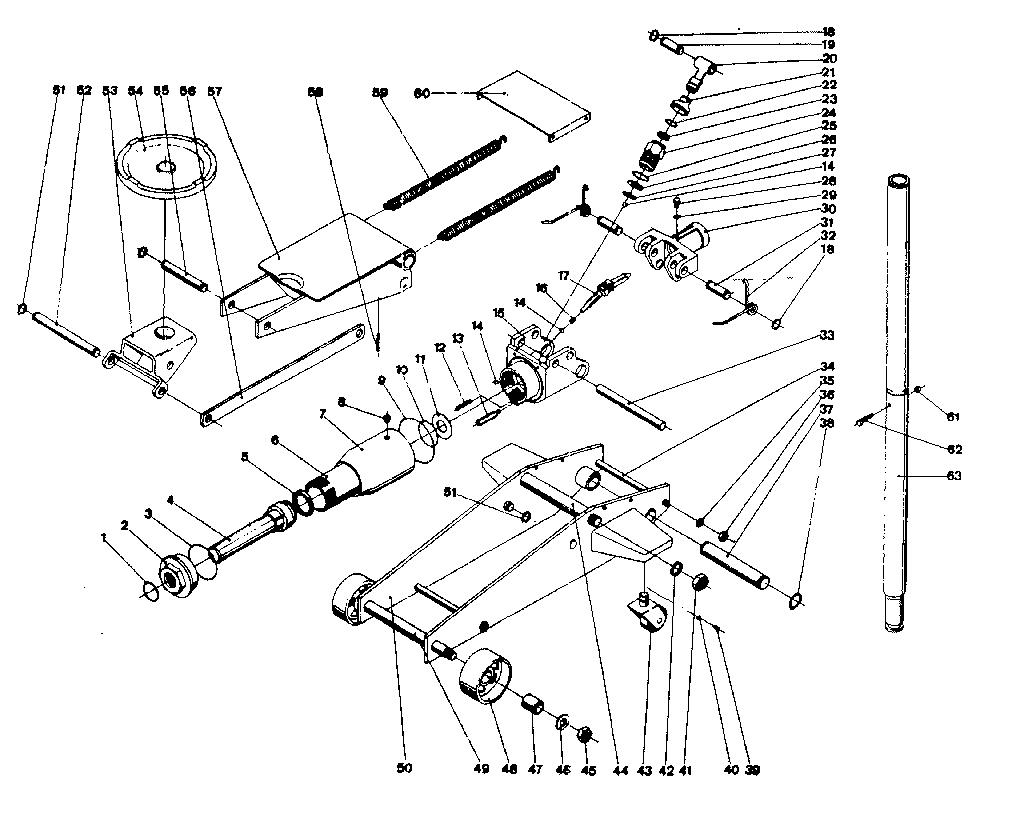 Craftsman model 1216 jack- electric genuine parts