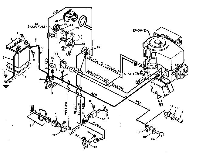 Craftsman Lt1500 Lawnmower Wiring Harness