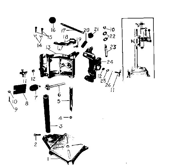 Craftsman model 33525980 hardware/tools genuine parts