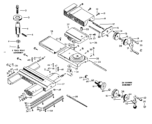 Craftsman model 10128940 lathe genuine parts