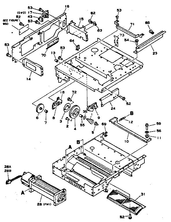 Hewlett-Packard model HP2686A printer genuine parts