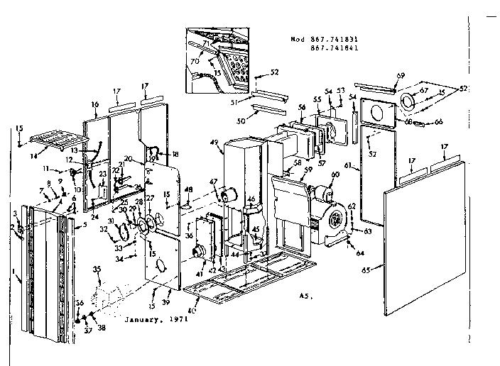 Kenmore model 42867741831 heater, kerosene genuine parts