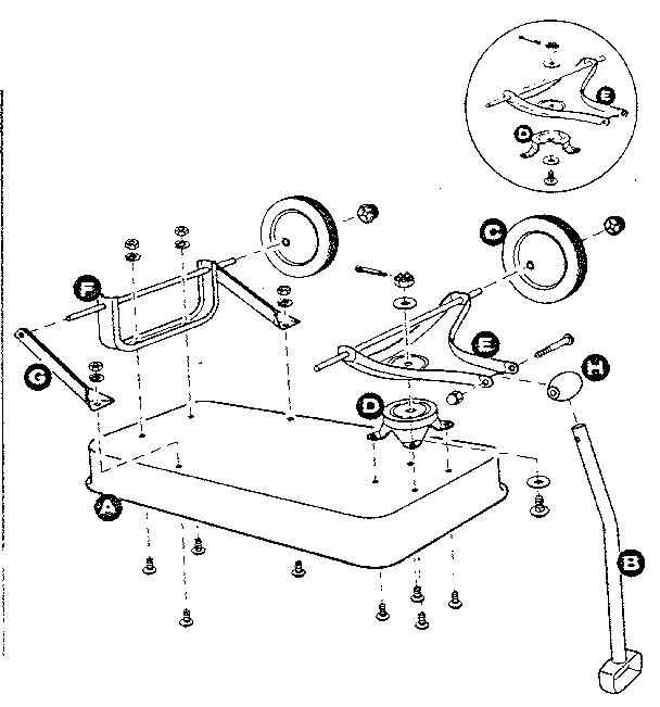 Sears model 18985505 wheelbarrow genuine parts