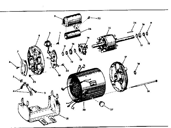 Craftsman model 11319600 motor electric genuine parts