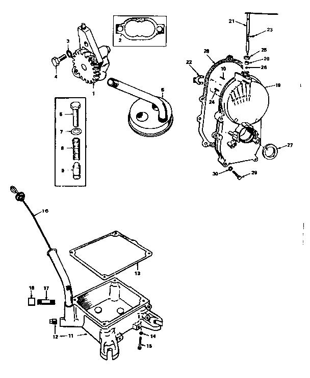 Onan model BF-MS/3394F engine genuine parts