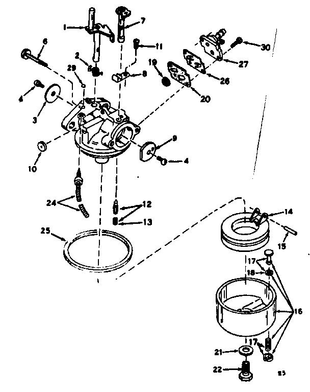 Craftsman model 21758870 boat motor gas genuine parts