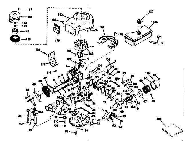 Craftsman model 143226232 engine genuine parts