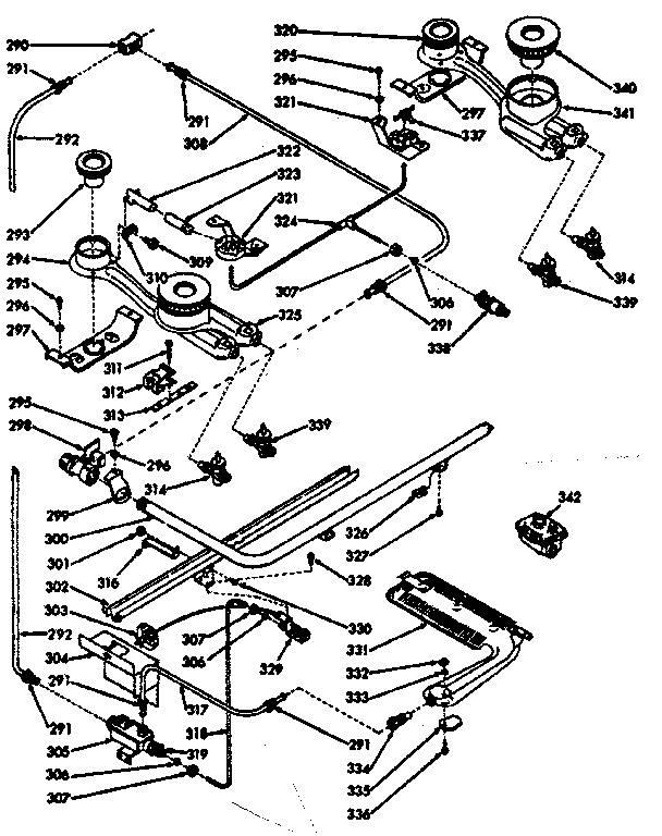 Kenmore model 1037717260 range (gas) genuine parts
