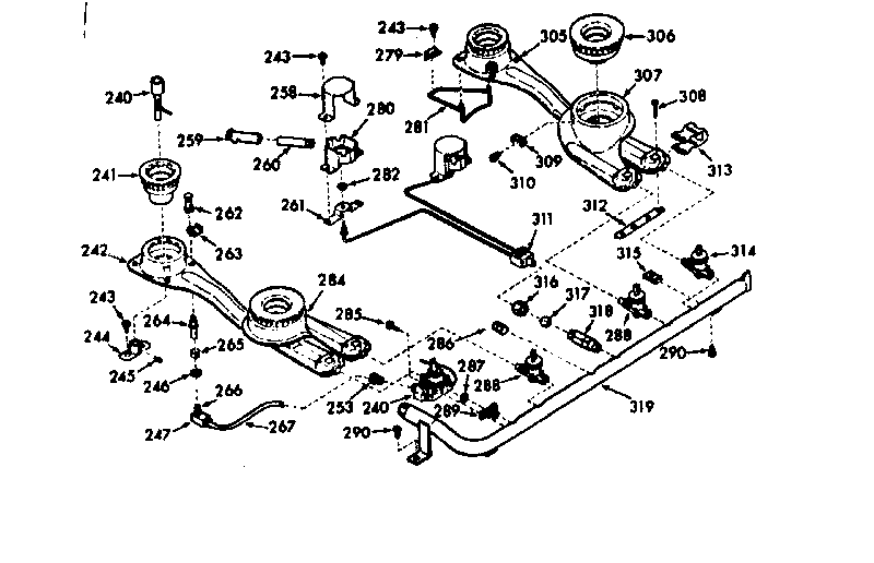 Kenmore model 1038357220 range, electric/gas genuine parts