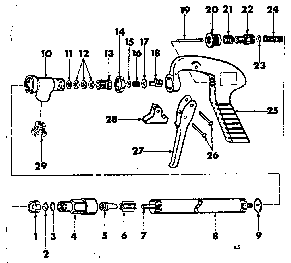 Gunjet model 43-AL sprayer and accessory genuine parts