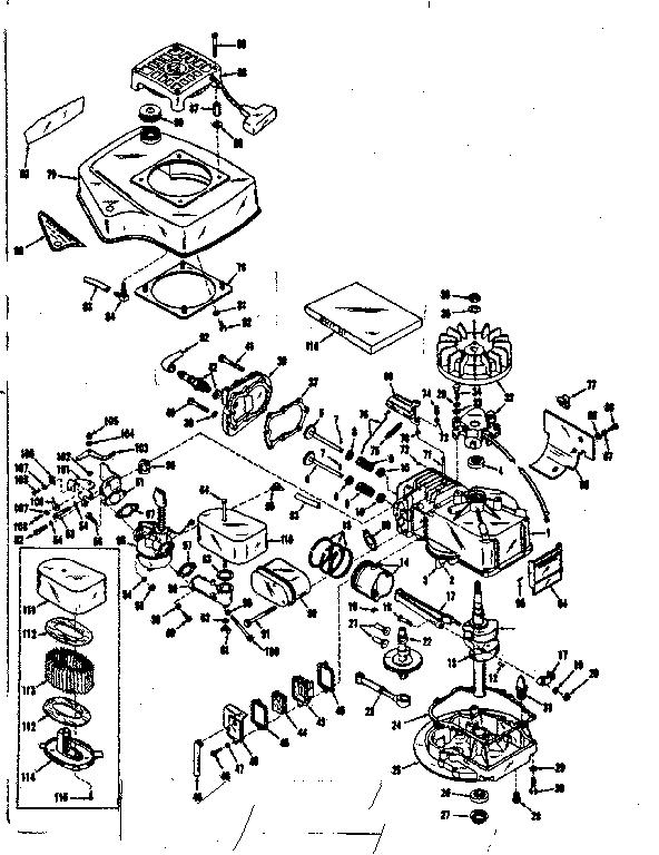 Craftsman model 14350031 engine genuine parts