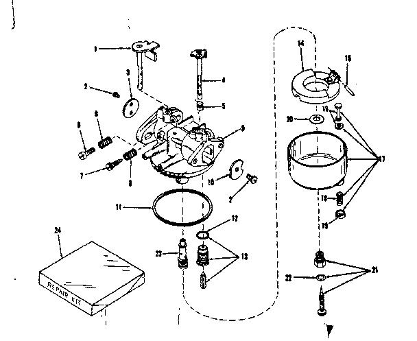 Craftsman model 14331601 engine genuine parts