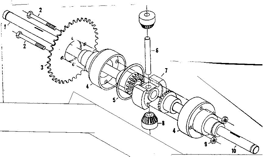 Craftsman model 1318221 lawn, riding mower rear engine