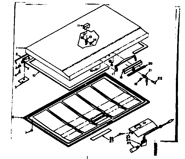 Kenmore model 198616620 chest freezer genuine parts