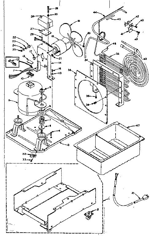 Kenmore model 1065845180 dehumidifier genuine parts