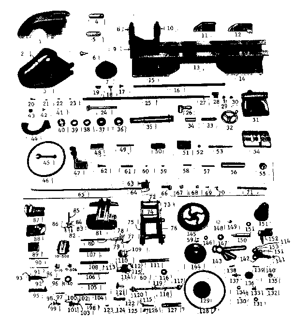 Craftsman model 10107363 lathe genuine parts