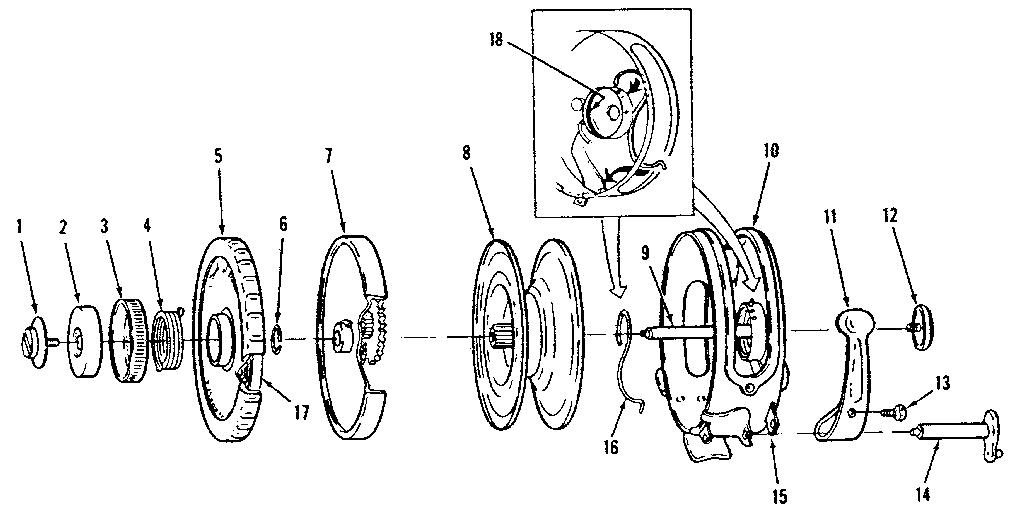 Sears model 535315560 fishing reel genuine parts
