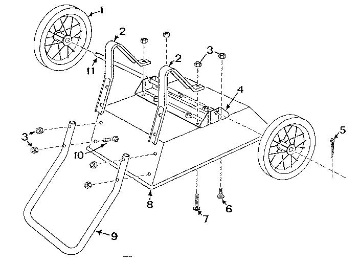 Craftsman model 18987690 wheelbarrow genuine parts