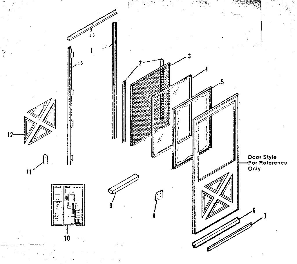 Sears model 65622311271 storm/screen door genuine parts