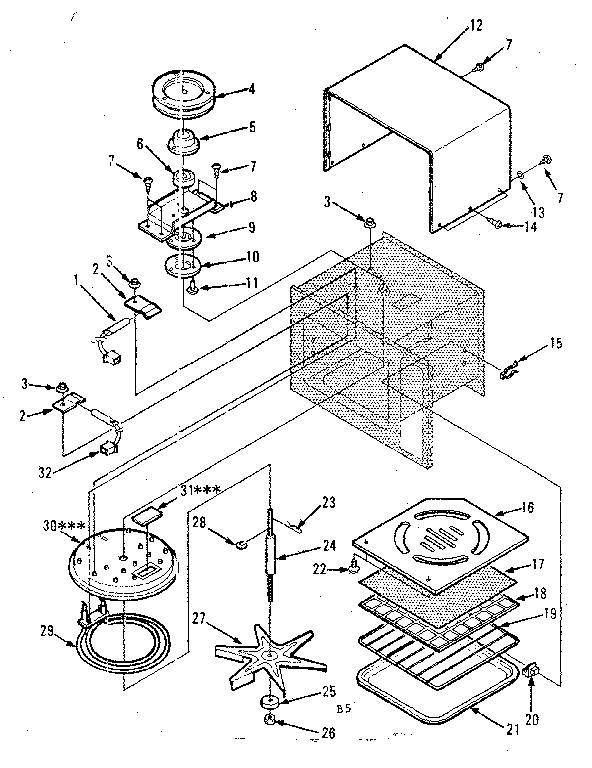 Kenmore model 5648698510 countertop microwave genuine parts