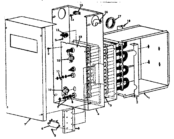 Icp model NAXE003AH02 air handler-auxiliary heater kit
