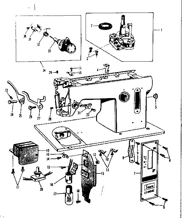 Kenmore model 158650 sewing genuine parts