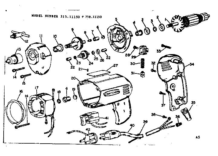 Craftsman model 31511150 drill-misc craftsman genuine parts