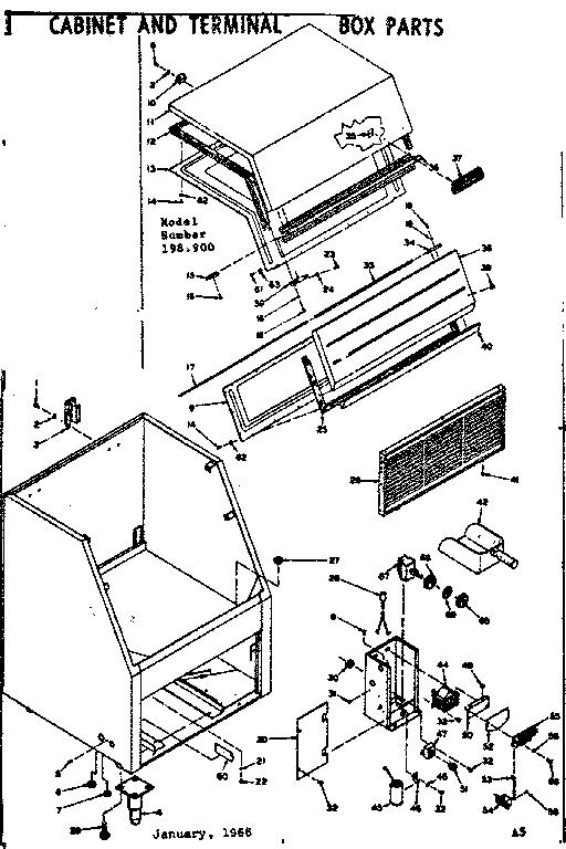 Kenmore model 198900 ice maker kits genuine parts