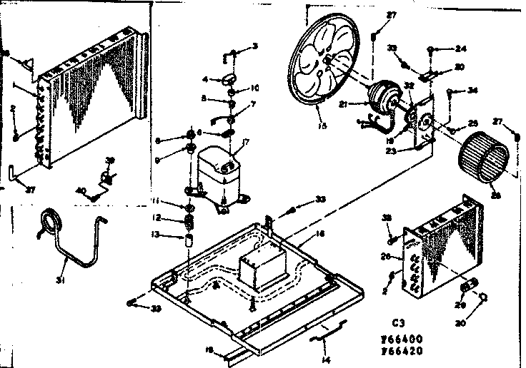 KENMORE COLDSPOT THROUGH-THE-WALL AIR CONDITIONER Parts