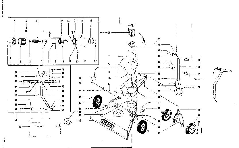 Craftsman model 25779800 chipper shredder/vacuum, electric