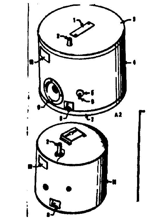 Kenmore model 1532941 captive air tank hookup genuine parts