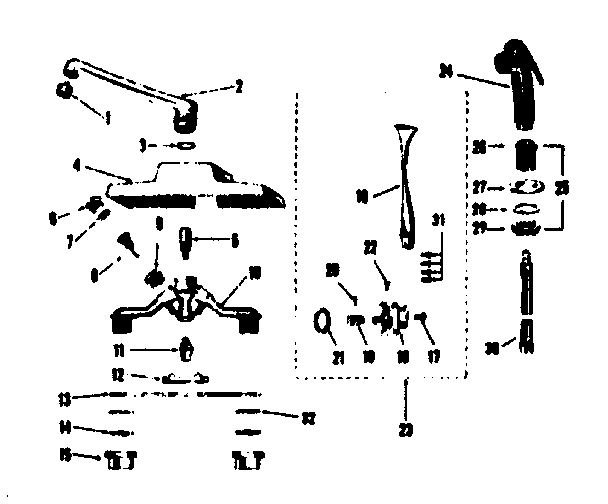 Kenmore model 25421483 faucet genuine parts