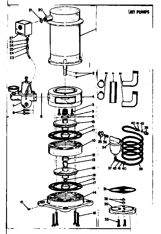 Kenmore model 3902597 well pump genuine parts