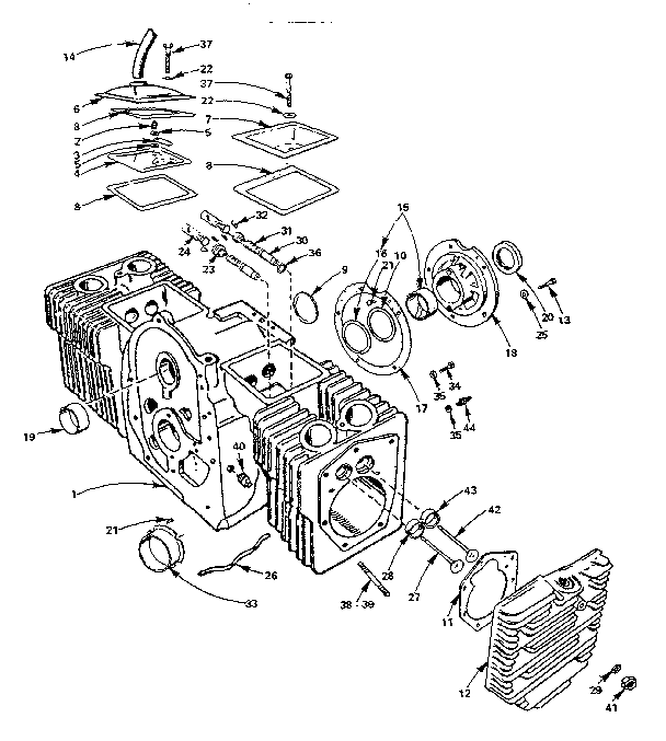 Onan model BF-MS2833E engine genuine parts