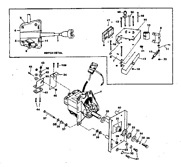 Sunbeam model 2240A snowthrower, electric genuine parts