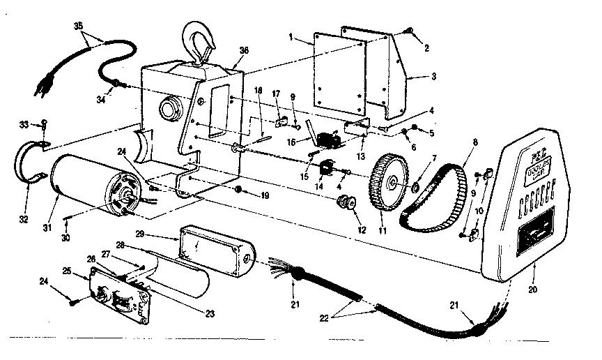 Pec model EC-500-B hoist genuine parts