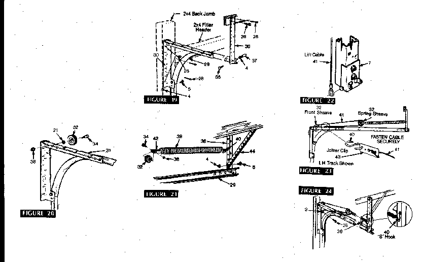 Sears model 36266742 garage door genuine parts