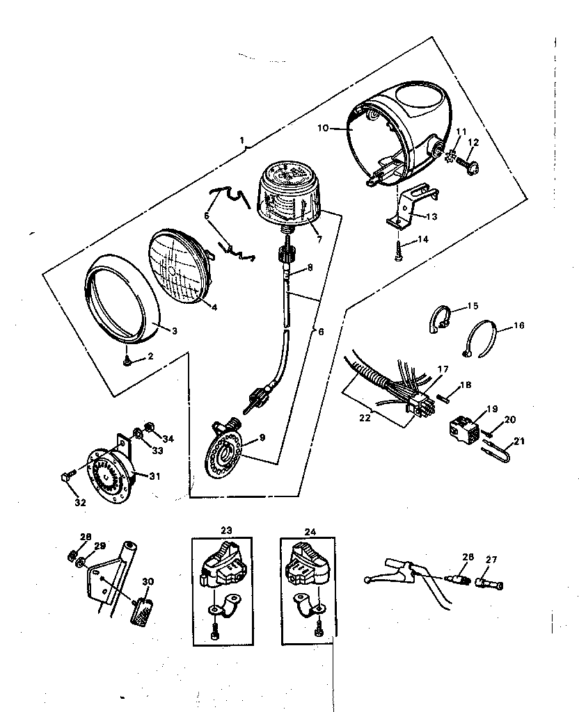 Sears model 8088 moped genuine parts